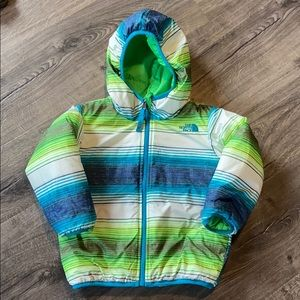 The North Face puffer jacket, reversible